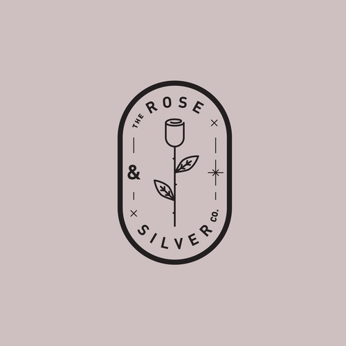 Logotype for 'The Rose & Silver Company' (jewellery).