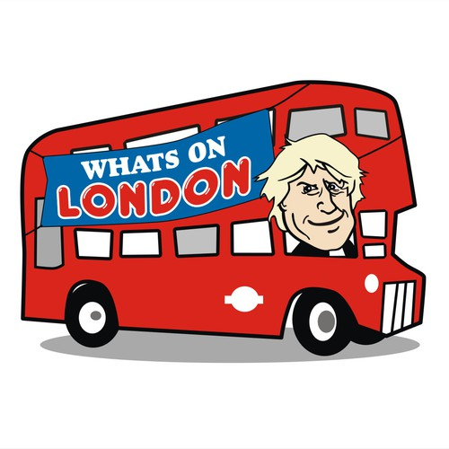 Create a fun humorous logo for Whats on London !