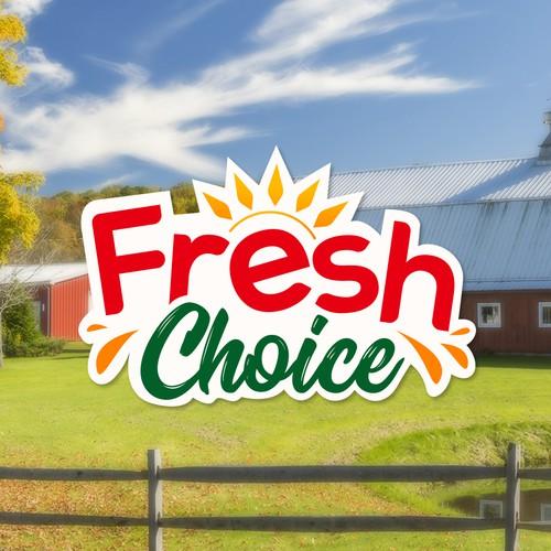 Fresh logo for a food company