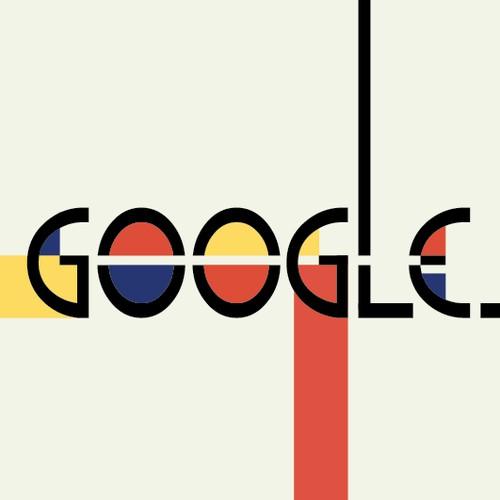 Google logo Bauhaus Style