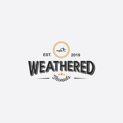 Logo design for Weathered Thread Apparel