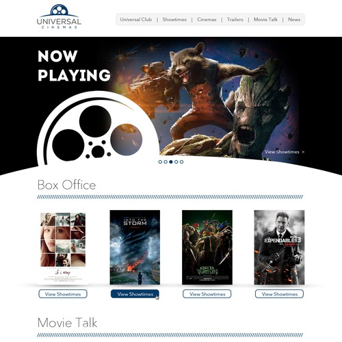 Website Design for Universal Cinemas