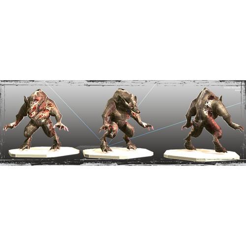 Zombie Werewolf 3D Model