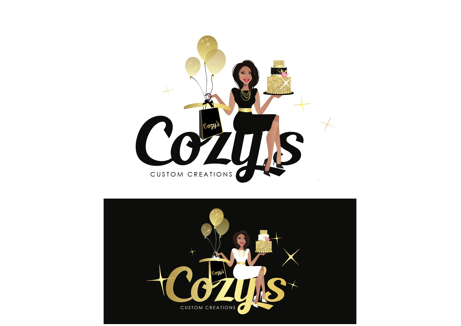 Unique custom apparel and gifts needs a classy and fresh logo!