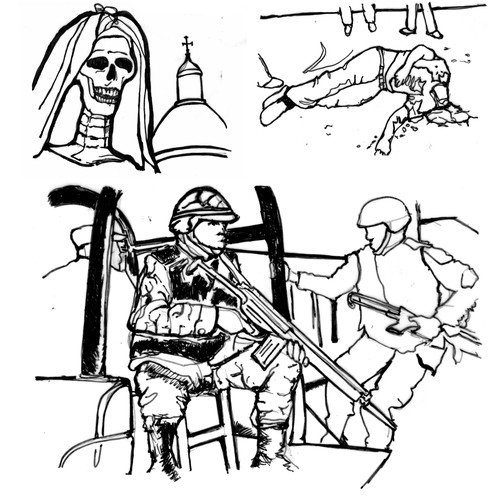 Crisp Illustration for War/Self Help Book