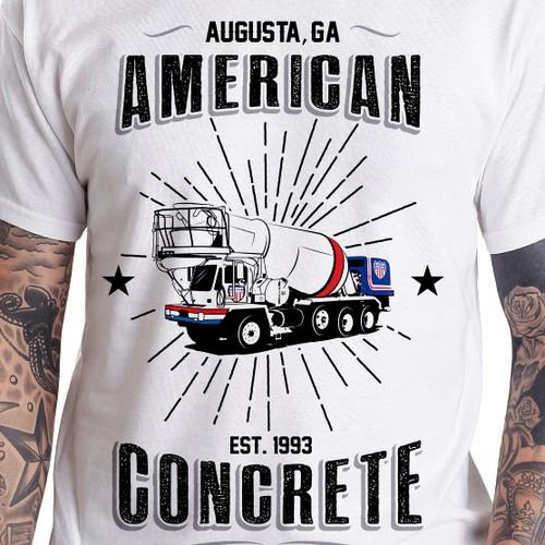 American Concrete tee design