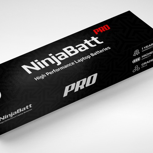 Laptop battery packaging/label design