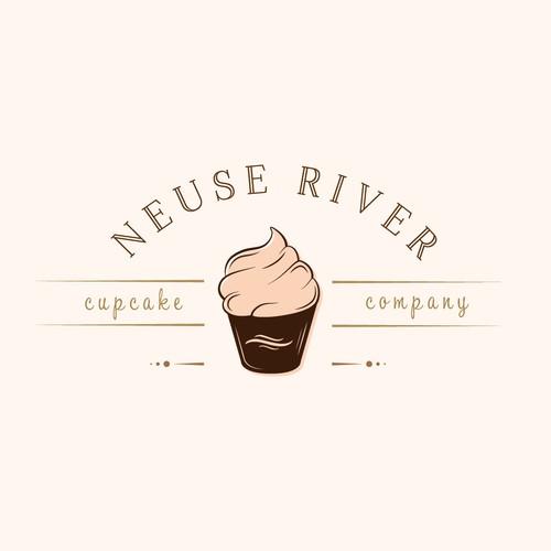 Logo for cupcake company.