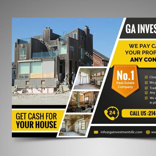 Postcard for real estate marketing