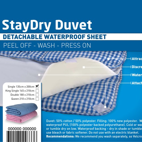 Help Brolly Sheets Ltd with a new product label