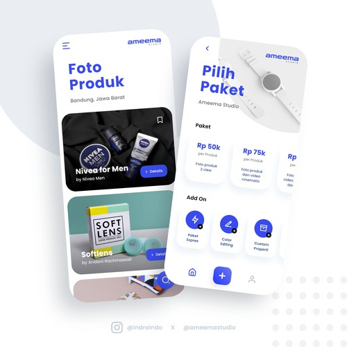Product Photography App Design