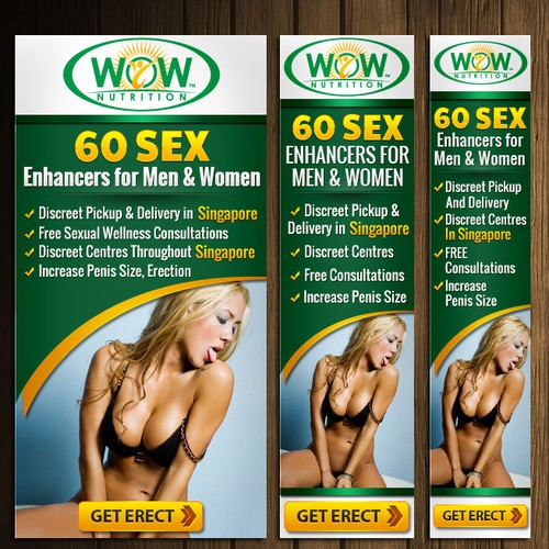 Ad Banners for Sexual Wellness Website