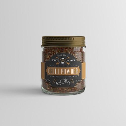 Vintage spice packaging