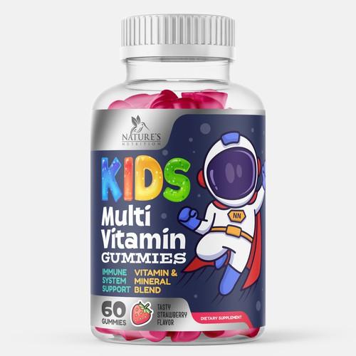 Kids Multivitamin Label Design