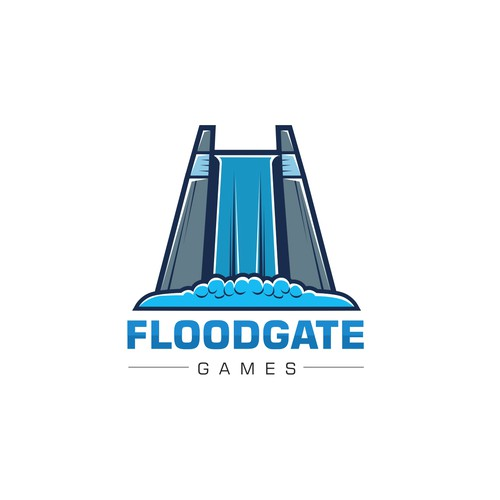 logo concept for floodgate games