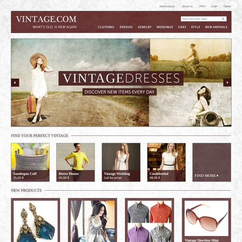 Vintage.com - A Great Challenge for Top Designers