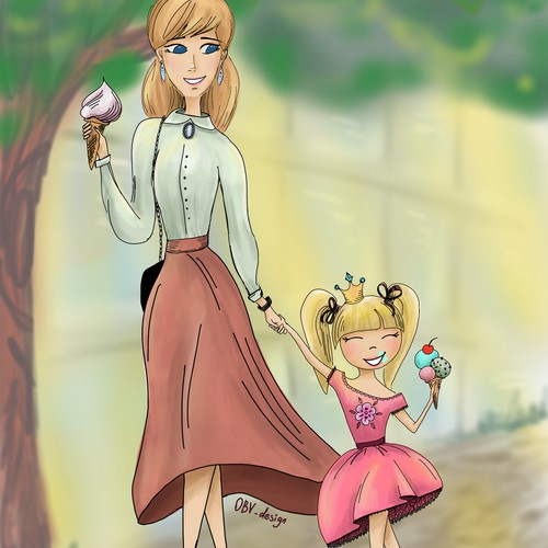 "Illustration idea for the children's book ""Little Princess"""
