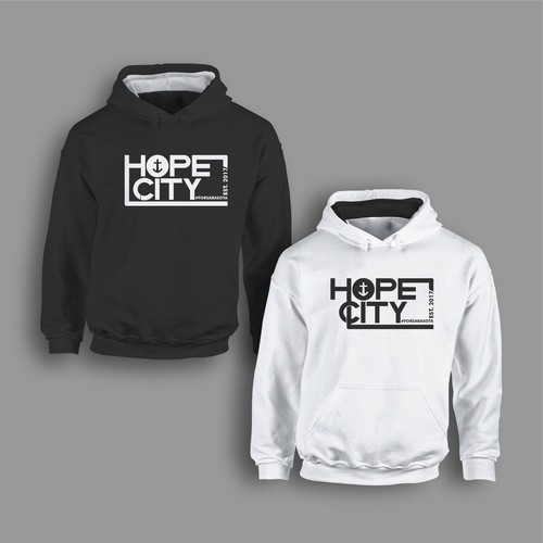 HOPE CITY TYPO HOODIES
