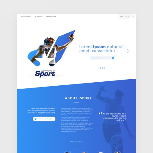 Modern web design for iSport