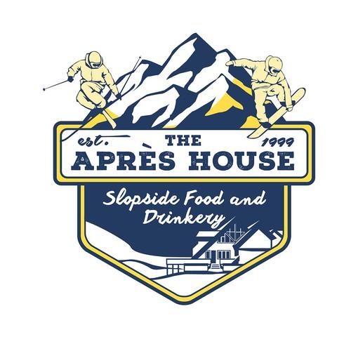 A vintage concept design The Apres House logo company