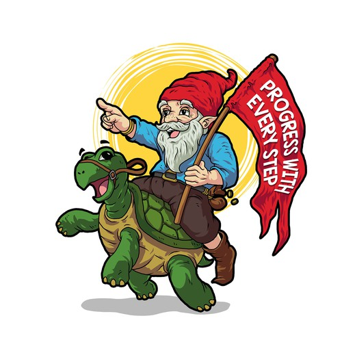 Dwarf riding a Turtle