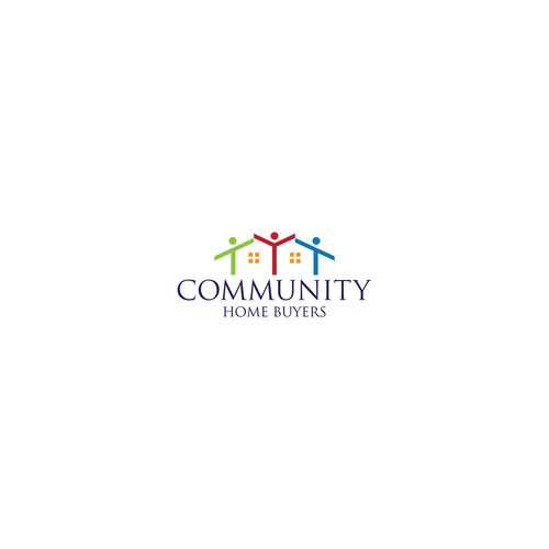 Community Home Buyers logo design