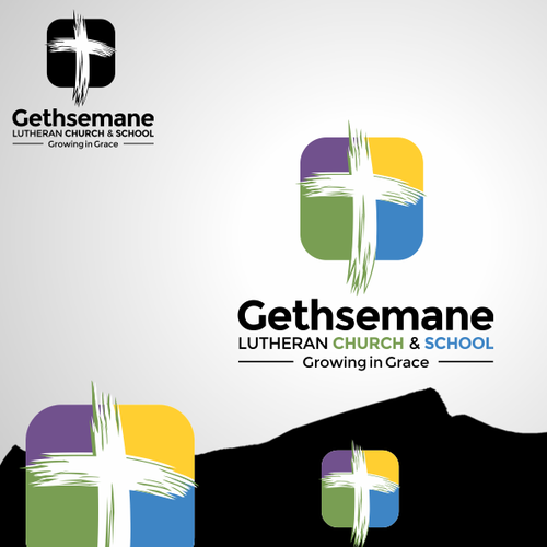 Prize Winning Design for Gethsemane Lutheran Church & School logo Contest