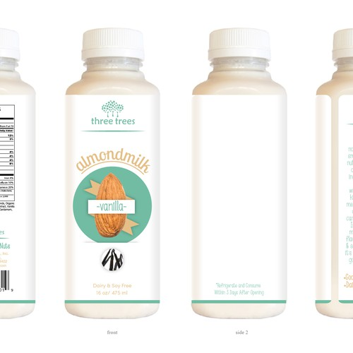 Design Great Packaging Label for Nutmilk on Refrigerated Grocery Shelves