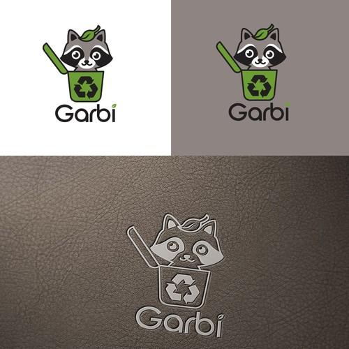 Logo for smart trash bin company