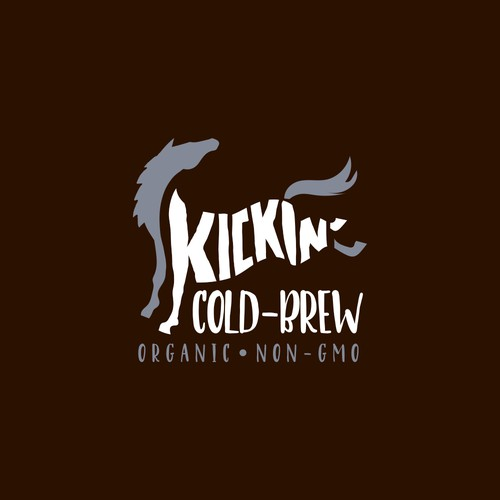 Logo concept for cold brewed coffee
