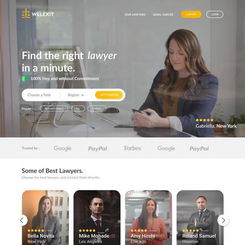 Lawyers Website Ui Design