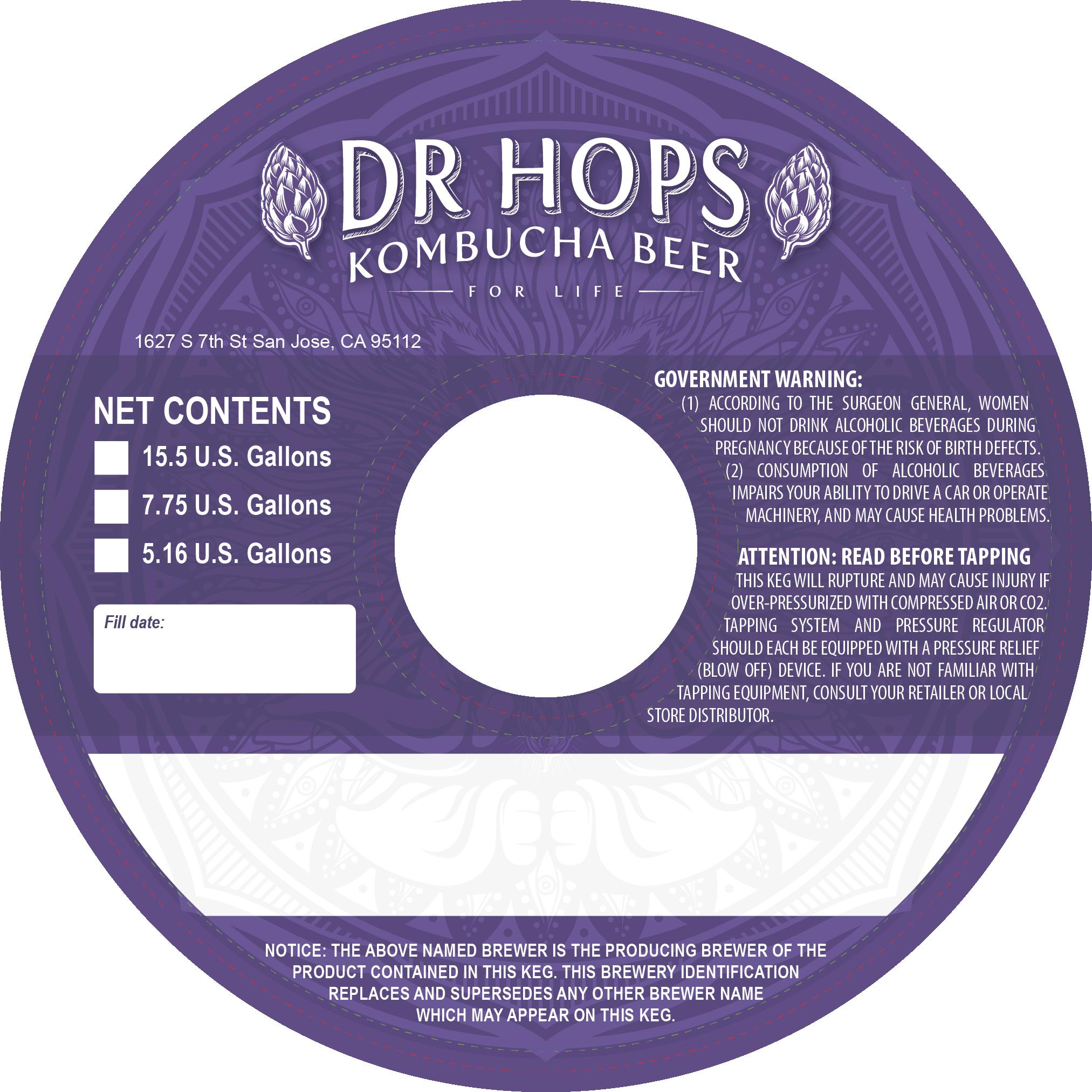 Dr Hops Kombucha Beer Label & Packaging