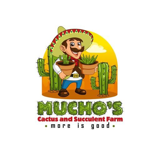 Mucho's Cactus and succulent farm logo