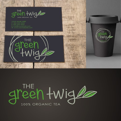 Create a unique logo for faboulus new tea blends for The Green Twig