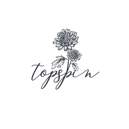 Hand drawn logo concept for a chrysanthemum (flower) breeder and propagator based in the Netherlands.
