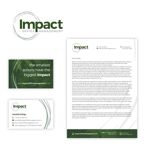 Corporate Identity design for Impact Office Management