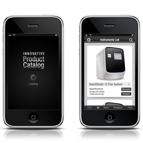 Innovative iPhone/iPad product catalog design