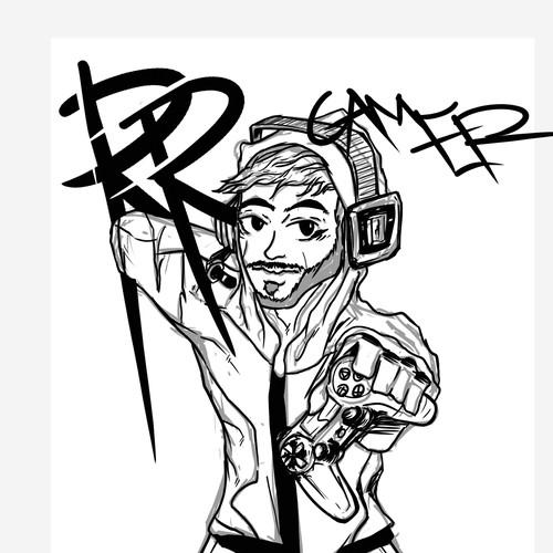Character Artwork for Youtuber