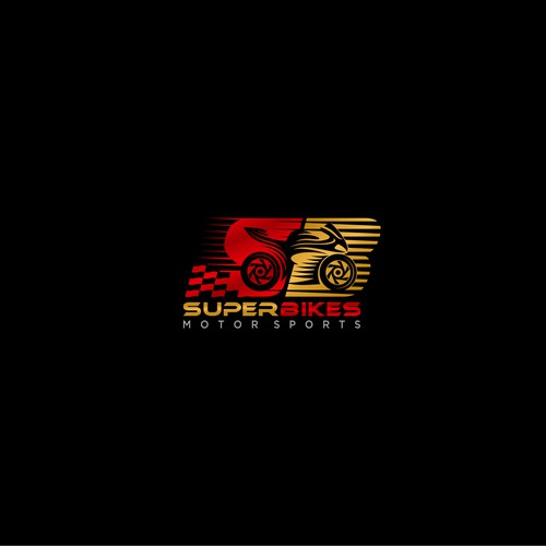 Super Bikes logo design, a motorcycle parts store and maintenance workshop