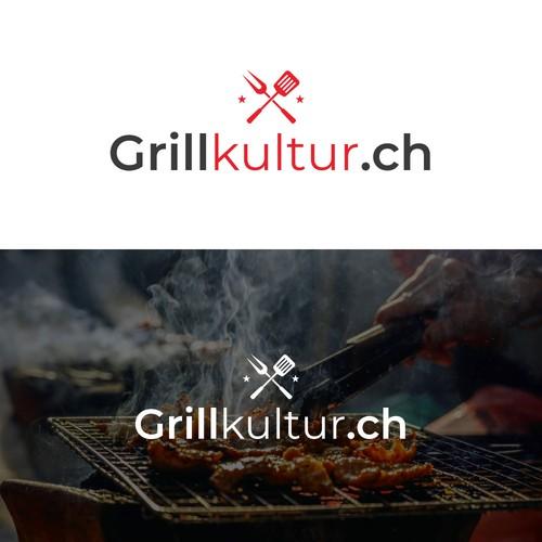Logo concept for grill utensils website.