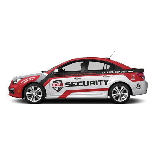 Vehicle wrap design for a Security Guard Company