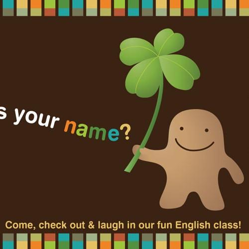 Flyer for English conversation school