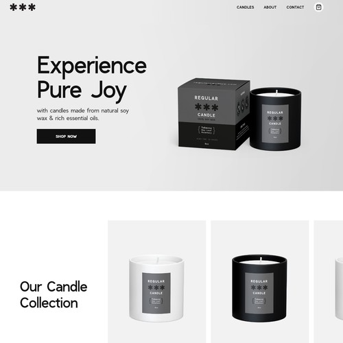 Website for a Candle company