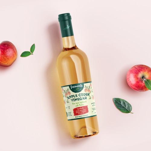 Apple Cider Vinegar - Label Design