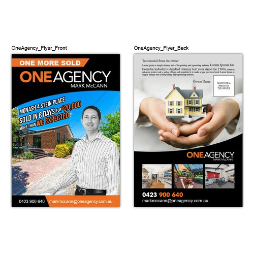 Create a visually appealing real estate flyer.