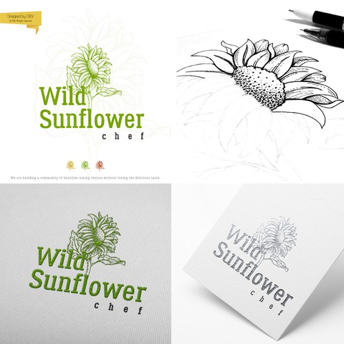 Logo for a community of healthier eating choices without losing the delicious taste