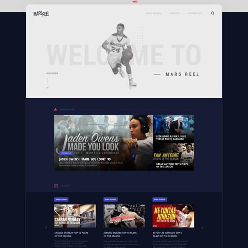 Mars Reel web design