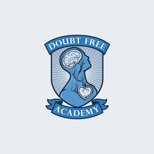 Coat of Arms style logo for Doubt Free Academy.