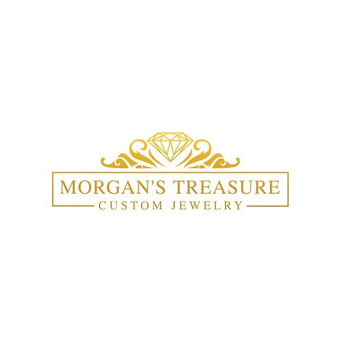 Unique logo for Morgan's Treasure Custom Jewelry