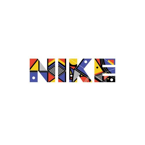 Nike logo - Bauhaus style